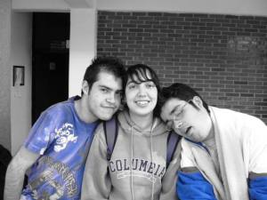 Divergentes: Gus (izq), Lulú (centro) y Alexei (der)