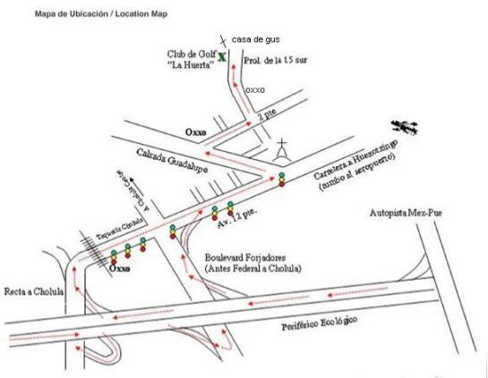 Mapa de la casa de Gus Barrientos